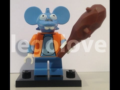 Itchy Mouse Minifigure Simpsons 71005 Review Bump Codes Tips Hints How To Find
