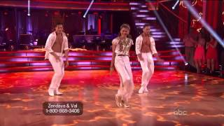 Zendaya  Valentin Chmerkovskiy  Gleb Savchenko  Salsa  Dancing With the Stars 2013  Week 8