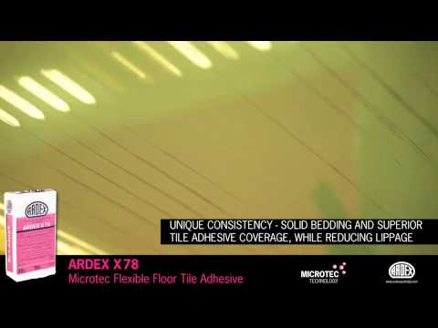 ARDEX X 78 - Microtec Flexible Floor Tile Adhesive for Large Format Floor Tiles
