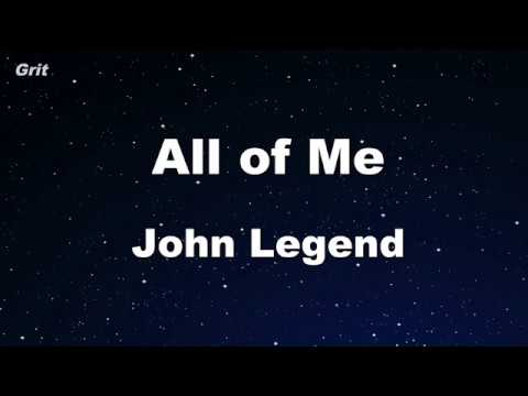 All Of Me - John Legend Karaoke 【No Guide Melody】 Instrumental