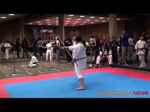 Meghan Hamilton Traditional Weapons at North American International Karate Championship 2013