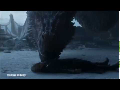Drogon Burns The Iron Throne scene HD Game Of Thrones 8x6