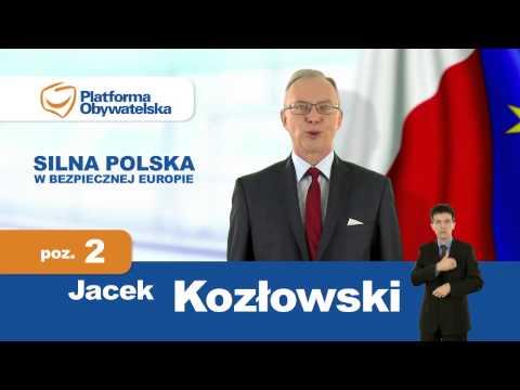 Jacek Kozłowski - spot wyborczy. Okręg nr 5. PE 2014