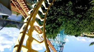 CorkscrewMichigan's Adventure (Muskegon, Michigan, USA)Operating since 1979Roller Coaster•Steel•Sit Down•ExtremeMake: Arrow DynamicsModel: All Models / CorkscrewStatisticsLength:1,250 ft Height:70 ft Inversions:2 Speed:45 mph Elements:Chain Lift HillDouble Corkscrew DetailsTrains: 6 cars per train. Riders are arranged 2 across in 2 rows for a total of 24 riders per train.