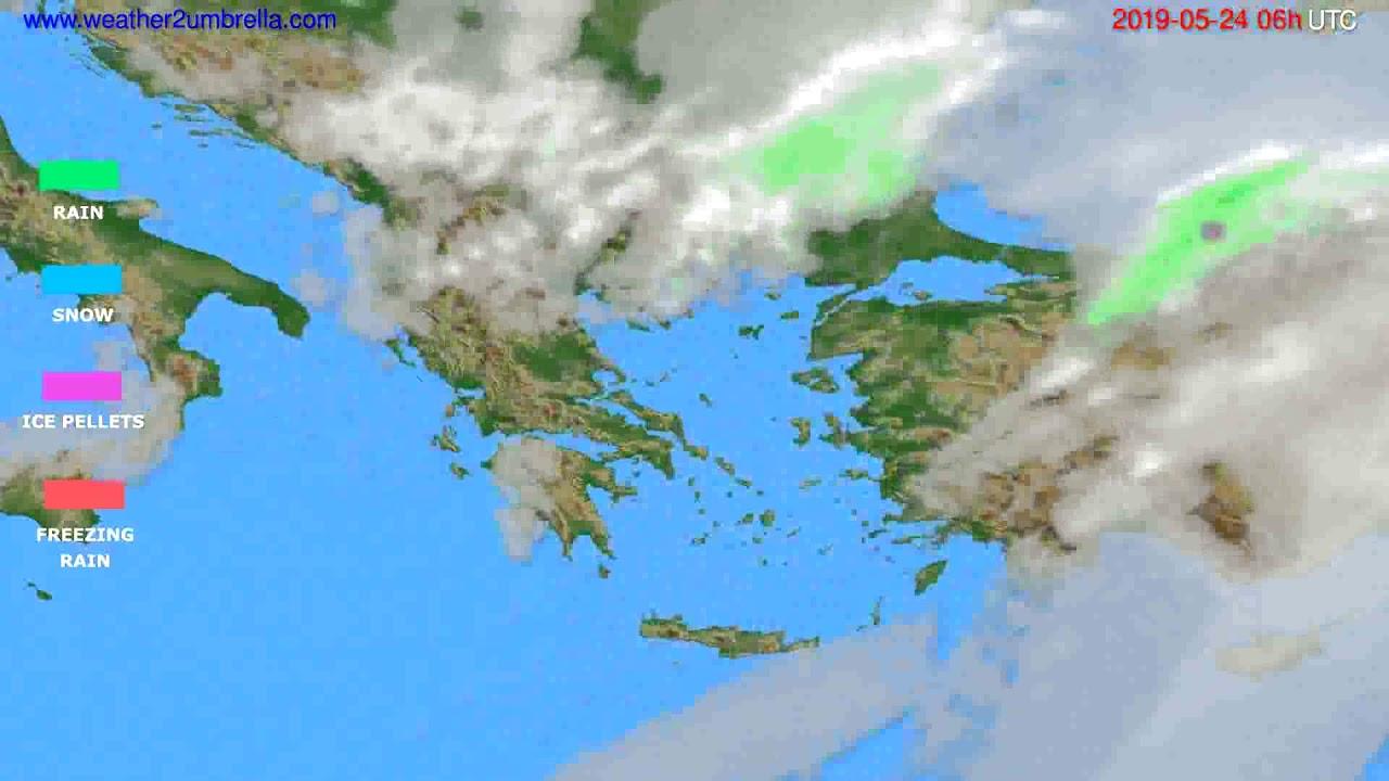 Precipitation forecast Greece // modelrun: 00h UTC 2019-05-22