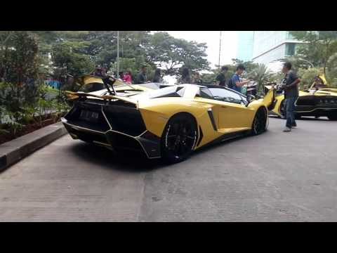Lamborghini Club Indonesia Morning Run 15-01-2017 (Startup, Rev Battle, Backfire, and Acceleration)