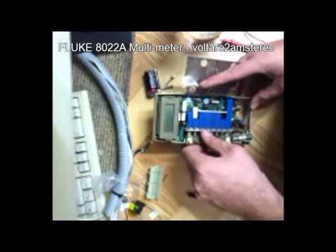 fluke 8022A multimeter - cleanup and tear-down -