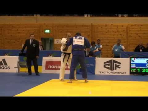 Judo Veterans EM 2011 M2 73 Finale Aracu vs Merenkov