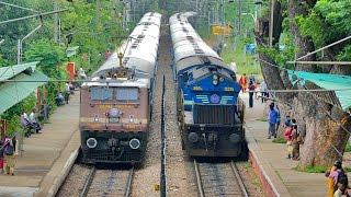 Video BEST Ever PARALLEL ACTION !! Electric & Diesel : Indian Railways MP3, 3GP, MP4, WEBM, AVI, FLV Juli 2018