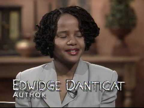 Author Edwidge Danticat in a 1994 interview - - NJN/State of the Arts