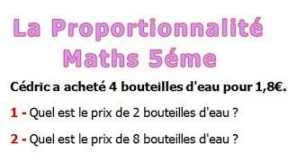 Maths 5ème - La proportionnalité Exercice 22