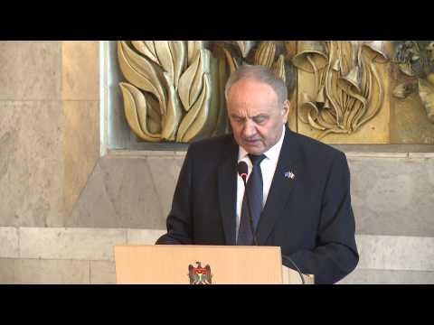 Nicolae Timofti a ținut un discurs cu ocazia împlinirii a 25 de ani de la adoptarea Declarației de suveranitate