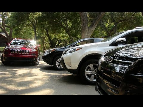 Honda CR V - http://www.TFLcar.com ) The 2014 Jeep Cherokee and the new Toyota RAV4 and the current Ford Escape as well as the Honda CR-V all compete for the same custo...