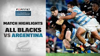 New Zealand v Argentina Rd.3 2021 Rugby Championship video highlights