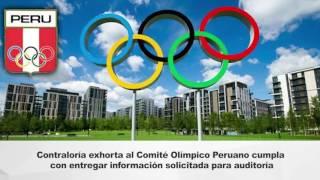 Contraloría exhorta a Comité Olímpico cumplir con entregar información solicitada – 22.11.16
