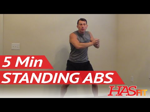 HASfit 5 Minute Standing Abs Workout – Standing Ab Exercises – Abdominal Exercise Standing Up