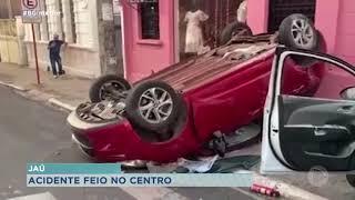 Acidente em cruzamento deixa uma pessoa ferida em Jaú