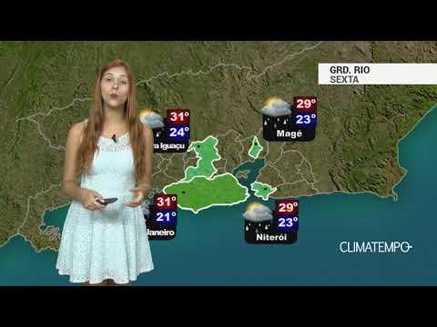 Imagens de calor - Previsão Grande Rio - Calor e chuva moderada