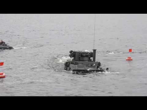 "Tests Ukrainian BTR-4 ""Bucephalus"" on the water"