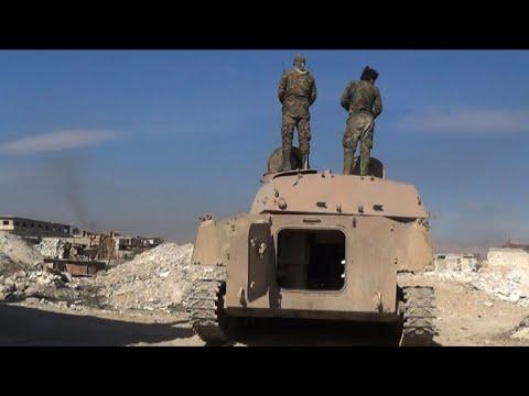 العرب اليوم - شاهد: قوات الحكومة تسيطر على أكثر من 70%من مساحة الغوطة الشرقية