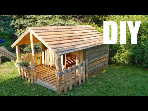 ★ Spielhaus / Gartenhaus für Kinder ★ selber bauen aus Paletten - Anleitung -