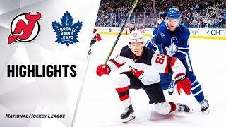 NHL Highlights   Devils @ Maple Leafs 1/14/20