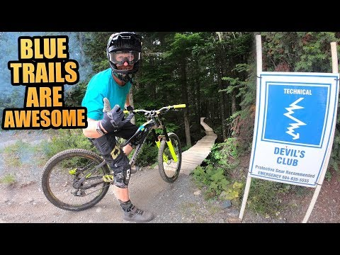 BLUE MTB TRAILS IN WHISTLER BIKE PARK ARE AWESOME!
