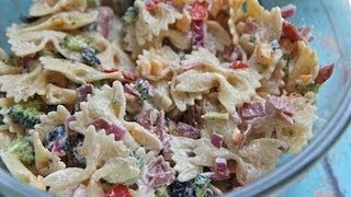 Creamy Bacon Cheddar Ranch Pasta Salad Recipe