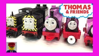 """All our versions of Mavis and Rosie from Thomas the Tank Engine & Friends in our collection that I could find. Did I miss any that you saw in a previous video? What other versions should I get? We are definitely getting the HO Scale Bachmann Rosie!In this video we show the MEGA Bloks, My Busy Book, Take N Play, Thomas Adventures, a magnet, Gashapon Capsule, and more. The collection is small but still neat! The MEGA Bloks Rosiee is VERY rare!Kid and family friendly videos about toy trains, real trains, and more!Thomas the Tank Engine, Chuggington, LEGO trains, and more fun!Please SUBSCRIBE for more Train fun: http://bit.ly/1v93HUTMy LEGO Channel: http://www.youtube.com/user/bricktsarMy Toys Channel: http://www.youtube.com/user/jolson37My Son: http://www.youtube.com/user/theymightbebricksMy daughter: http://www.youtube.com/user/sowhosthatgirlMrs. BrickTsar: http://www.youtube.com/user/seagrove697My Website: http://www.traintsarfun.comHelp support our channel by buying on Amazon: http://amzn.to/2aUvc1fLEGO on Amazon: http://amzn.to/2aEgHxVInstagram: http://www.instagram.com/traintsarfunFacebook: http://www.facebook.com/traintsarfunTwitter: http://www.twitter.com/traintsarfunRoyalty Free Music: """"olde Timey""""Kevin MacLeod (incompetech.com)Licensed under Creative Commons: By Attribution 3.0http://creativecommons.org/licenses/by/3.0"""