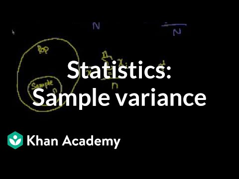 statistics sample variance video khan academy