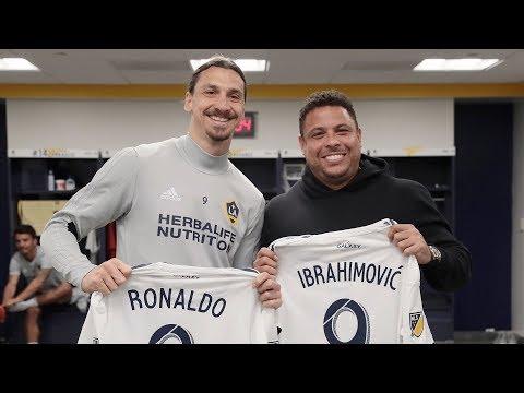 Video: Soccer Legend Ronaldo visits LA Galaxy