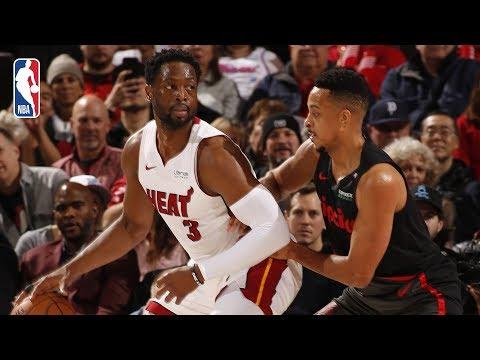 Video: Full Game Recap: Heat vs Trail Blazers | Dwyane Wade Shines In Portland