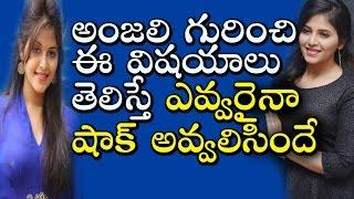 హీరోయిన్ అంజలి గురించి ఈ విషయాలు తెలిస్తే ఎవ్వరైనా షాక్   Real Life Facts About Actress Anjali