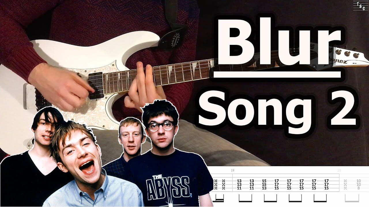 Blur – Song 2 (Guitar Cover Tutorial with Tab)