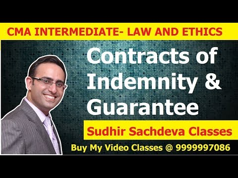 CMA Inter Law And Ethics Contracts Of Indemnity And Guarantee