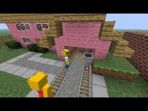 The Simpsons opening in Minecraft