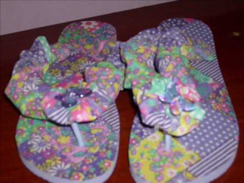 sandalias customizadas decupagem em chinelo sandalias decoradas 1 mp4