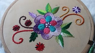 Hand Embroidery Designs  Basic design tutorial  Stitch and Flower135