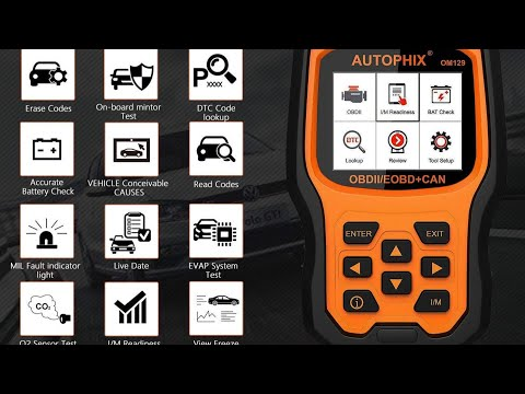 AUTOPHIX OM129 SCANNER OBD2 BATTERY TESTER REVIEW
