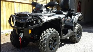 1. 2015 Can Am Outlander MAX 800XT walk around