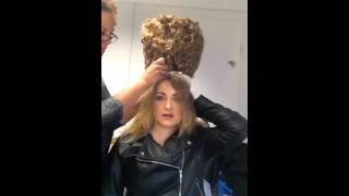 18th century hairstyling in less than 30 seconds