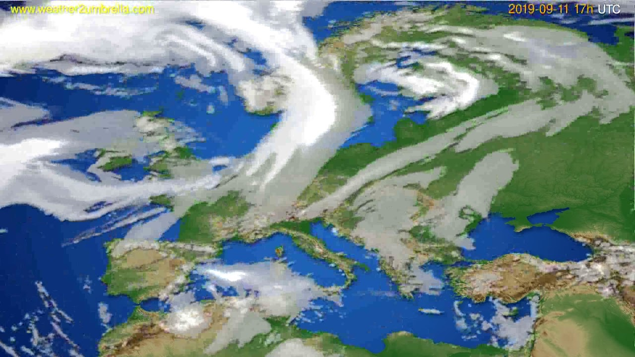 Cloud forecast Europe // modelrun: 00h UTC 2019-09-10