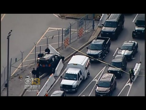 3 Injured, 3 In Custody After SUV Rams Security Gate At NSA