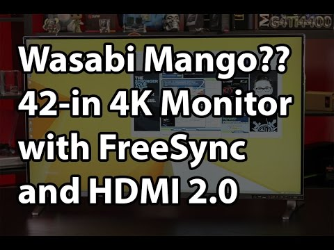 Wasabi Mango UHD420 42-in 4K - FreeSync and HDMI 2.0 for under $800