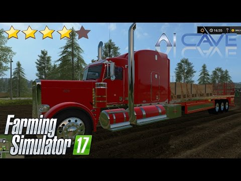 Peterbilt 388 Custom flatbed Auto Load v1