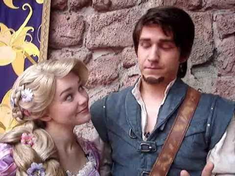 Walt Disney World - Rapunzel and Flynn say Hi!