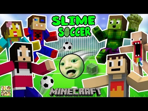 FGTEEV FAMILY SLIME SOCCER MATCH!  Super Fun Minecraft Game w/ Furby Crowd (6 Players) (видео)