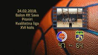 kk sava kk zemun 47 64 (pioniri, 24 02 2018 ) košarkaški klub sava