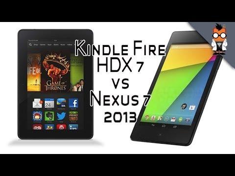 Kindle Fire HDX 7 vs Nexus 7 2013 - Best 7