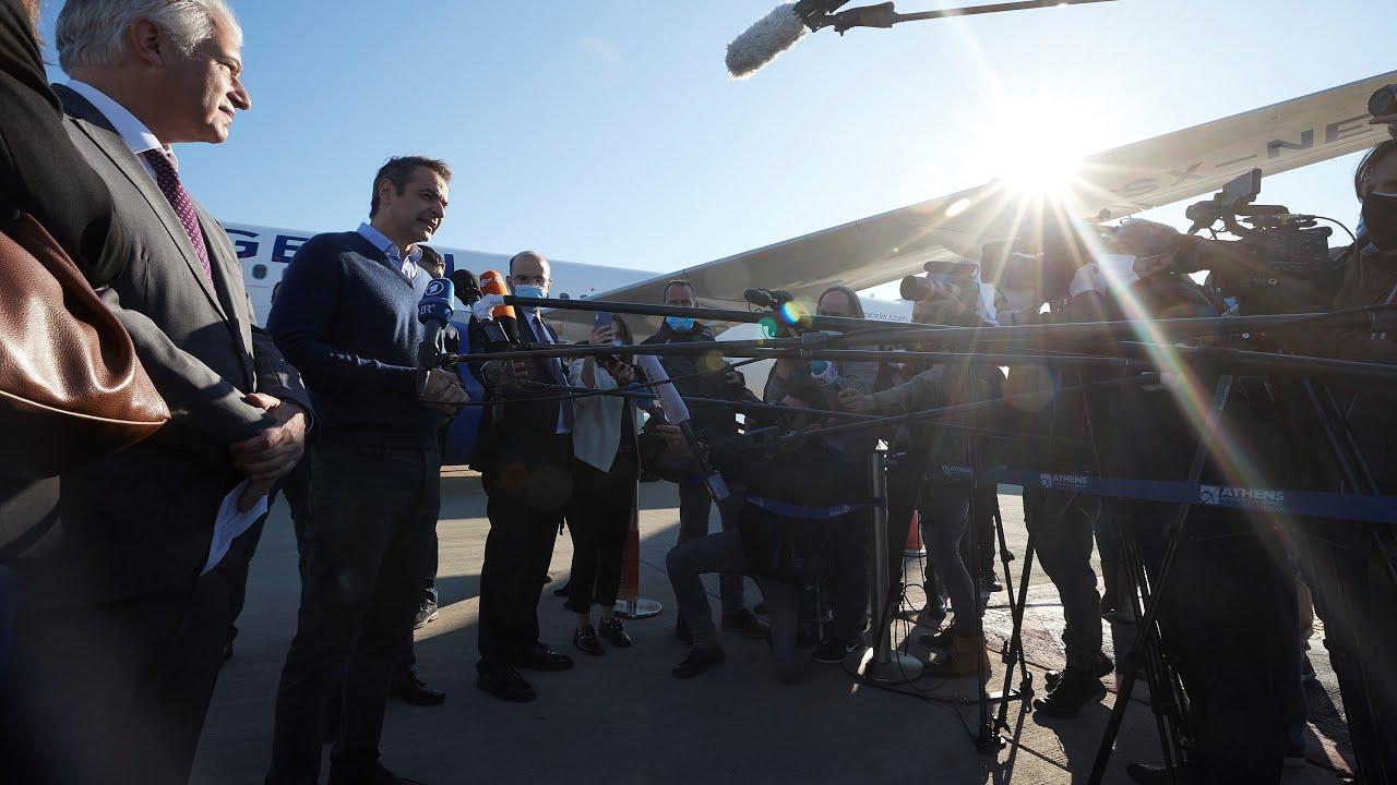 Δήλωση Κ. Μητσοτάκη κατά την αναχώρηση 50 ασυνόδευτων ανήλικων προσφύγων για τη Γερμανία
